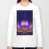 meditation Long Sleeve T-shirts featuring Meditation by Art-Motiva