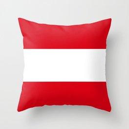 Flag: Austria Throw Pillow