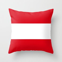 Flag: Austria Throw Pillow