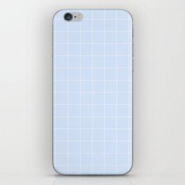 Powder Blue and White Grid Pattern iPhone Skin