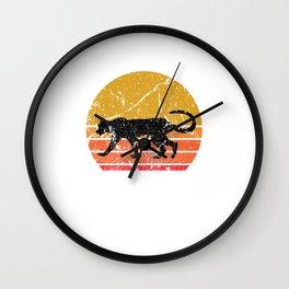 Retro Sun Cheetah Leopard Gift Wall Clock