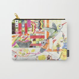 Hummingbird and mouse Carry-All Pouch
