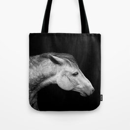 Casper | Horse Photography | Animal Art | Minimalism | Nature | black-and-white Tote Bag