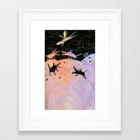 wings Framed Art Prints featuring wings by Bunny Noir