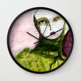 Portrait Lines Wall Clock