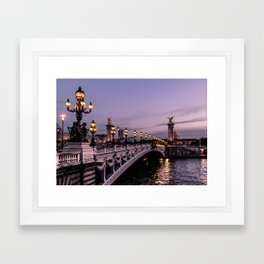 Nights in Paris Framed Art Print