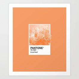 Pantone Series – Coral Reef Art Print