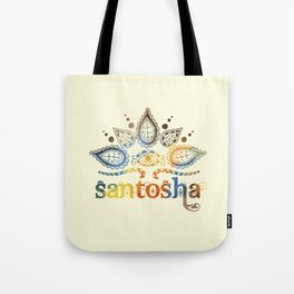 Santosha Yoga & Meditation Tote Bag