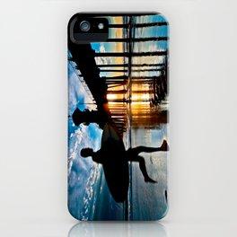 Surf City Sunset Surfer  1/25/15 iPhone Case