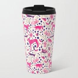 Park dogs in Pink Travel Mug