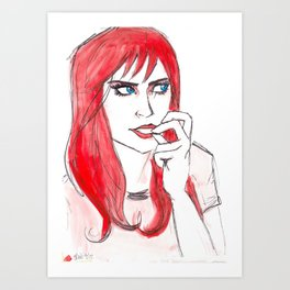 Mary Jane Art Print