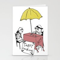 tarot Stationery Cards featuring Tarot Reader by hannah koslosky
