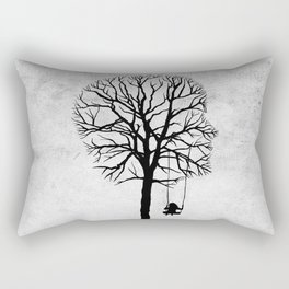 if my memory serves me right (black and white) Rectangular Pillow