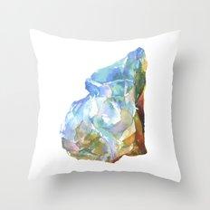 Raw Opal Throw Pillow