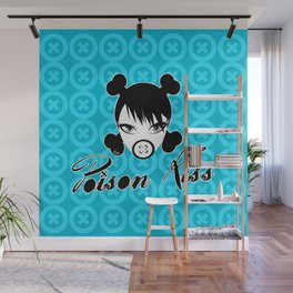 POISON KISS CYAN Wall Mural