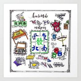 How to make Mahjong? Art Print