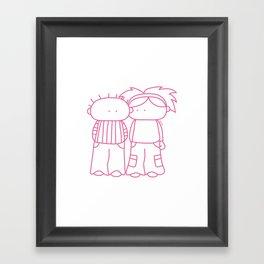 Rosy Love Framed Art Print