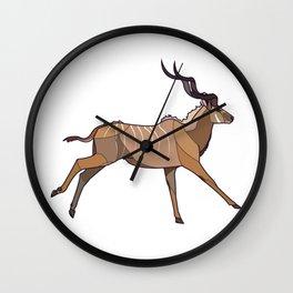 Geometric Antelope Wall Clock