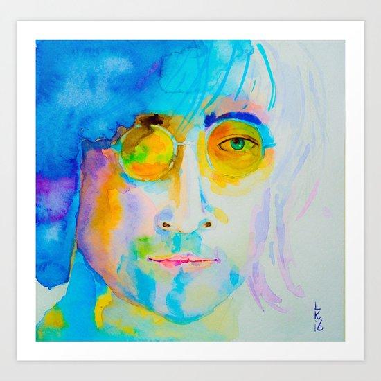 portrait of John Art Print