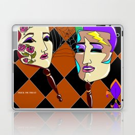 Masks and a Spider Web - October Laptop & iPad Skin