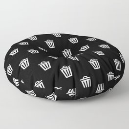 trash can pattern Floor Pillow
