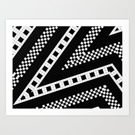 Subway Plaid Geometrics RR90 M5I180O90 Art Print