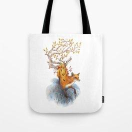 Fox Tree Tote Bag