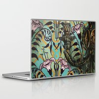 """haunted mansion Laptop & iPad Skins featuring Disneyland Haunted Mansion inspired """"Wall-To-Wall Creeps No.1""""  by ArtisticAtrocities"""