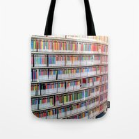 bookworm Tote Bags featuring Bookworm by Anabella Nolasco