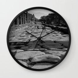 Cobblestones of Pompei Wall Clock