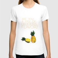 psych T-shirts featuring are you a fan of delicious flavor? .. psych tv show.. funny quote.. pineapple by studiomarshallarts