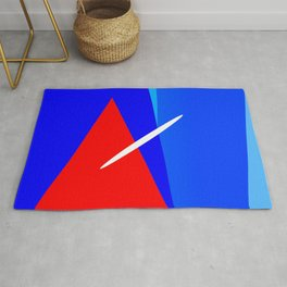 RED BLUE WHITE HARMONY BETWEEN LINES Rug