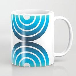 Blue and Green Spiral Pattern Coffee Mug