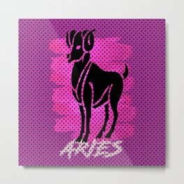 aries astrological sign Metal Print