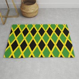 Flag of Jamaica 3-Jamaican,Bob Marley,Reggae,rastafari,cannabis,ganja,america,south america,ragga Rug