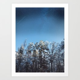 After Snowfall Art Print