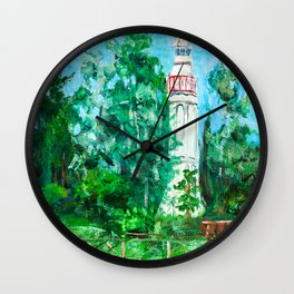 Lighthouse in Mersrags, Latvia Wall Clock