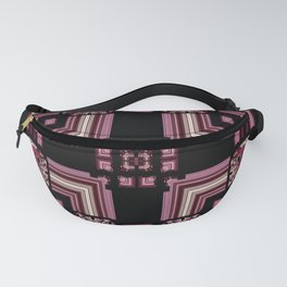 Abstract Pink Black Square Multi Pattern design Fanny Pack