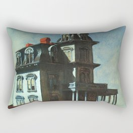 The House By The Railroad By Edward Hopper 1925 Rectangular Pillow