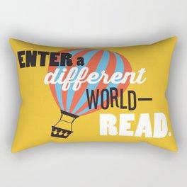 Different World - Just Read Rectangular Pillow