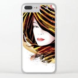 Vogue Fashion Illustration #14 Clear iPhone Case