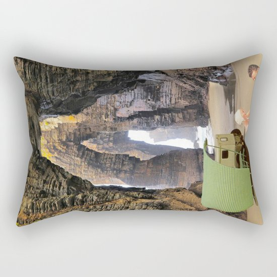 sous les rochers Rectangular Pillow