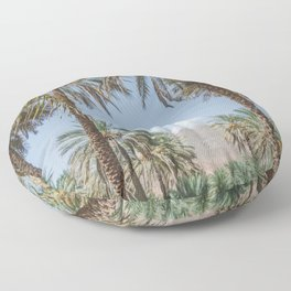 Date Palm Trees in Oman #3 Floor Pillow