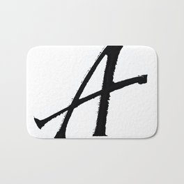 Letter A Ink Monogram Bath Mat