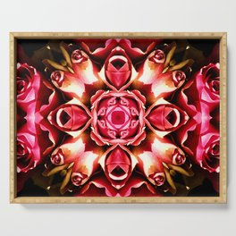Pink Rose Abstract Serving Tray