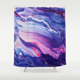 Tranquil Swirl Hybrid- Painting Shower Curtain
