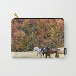 Horses Valley Carry-All Pouch
