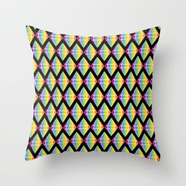 Abstract [RAINBOW] Emeralds pattern Throw Pillow