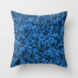 Master builder Blue Throw Pillow