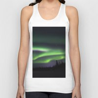 northern lights Tank Tops featuring Northern Lights by Pamela Barron